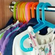 Wardrobe with baby сlothes — Stock Photo