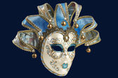Isolated Blue Venetian mask — Stock Photo