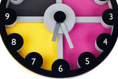 Multi-colored clock — Stock Photo