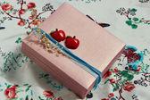 Stylishly decorated  present box — Stock Photo