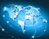 Connected world - isa — Stock Photo