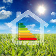 Home energy - insulation - consumption wattage — Stock Photo
