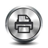 Botão metálico redondo - impressão — Fotografia Stock