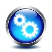Tlačítko sklo blu - nastavení — Stock fotografie