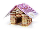 Savings for real estate project - roof 500 euro — Stock Photo