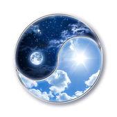 Icon tao - moon and sun — Stock Photo