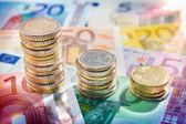Chart euro — Stock Photo