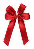 Red bow - isolated — Stock Photo