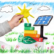 New generation that thinks of the photovoltaic  — Stock Photo