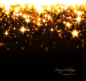 Christmas background with sparkling stars and flashes — Stock Photo