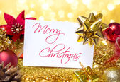 Greeting christmas with glitter — 图库照片