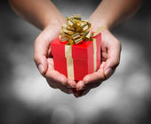Give your gift — Stock Photo