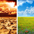 Climate concept - global warming — Stock Photo #45242757