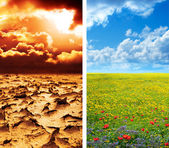 Climate concept - global warming — Stock Photo