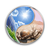 Energy solar can save our planet - environment concept — Stock Photo