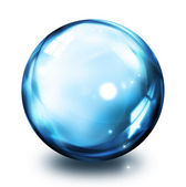 Bubble icon - blue — Stock Photo