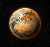Dead and barren world, concept of global warming — Stock Photo