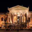 He Teatro Massimo, Opera House in Palermo at Night — Stock Photo