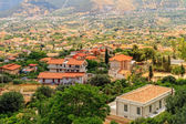 Summer Landscape of Sicily and Cityscape of Palermo, shot from Monreale — Stock Photo