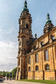 BAD STAFFELSTEIN, BAVARIA, GERMANY - JUNE 09 2013: Picture of the famous pilgrimage church of the fourteen helpers in need Vierzehnheiligen on June 09 2013 near Bad Staffelstein in Germany — Foto de Stock