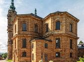 BAD STAFFELSTEIN, BAVARIA, GERMANY - JUNE 09 2013: Picture of the famous pilgrimage church of the fourteen helpers in need Vierzehnheiligen on June 09 2013 near Bad Staffelstein in Germany — Stock Photo