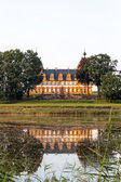Chateau Seehof with reflection in the lake — Stock Photo
