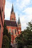Serce jezusa kościół w mieście graz — Zdjęcie stockowe
