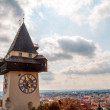Graz Clock Tower — Stock Photo