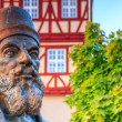 BAD STAFFELSTEIN, BAVARIA GERMANY - OCTOBER 01 2013  Statue of the German mathematician Adam Riese in Bad Staffelstein on OCTOBER 01 2013 in Bad Staffelstein in Germany — Stock Photo