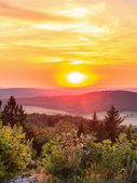 Countryside Summer Sunset Landscape — Stock Photo