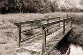 Vintage Wooden Bridge — Stock Photo