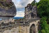 Bastion Bridge in Saxonia near Dresden — Stock Photo
