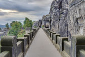 Ponte del bastione in Sassonia vicino Dresda — Foto Stock