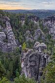 Saxonian Swiss Rock Formation near Dresden — Stock Photo