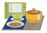 Menú de sopa — Vector de stock