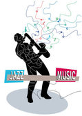 Jazz Music — Stock Vector
