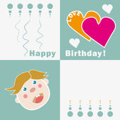 Happy Birthday Card for a little Boy — Stock Vector