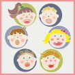 Happy Children — Imagen vectorial