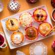 Stock Photo: Muffins with topping