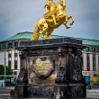 The golden monument to Augustus II the Strong — Stock Photo