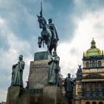Saint Wenceslas statue — Stock Photo #34762341