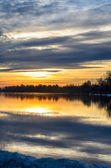 Sunset over the river. — Stock Photo