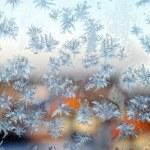 Frosty pattern. — Stock Photo