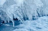 Ice spikes. — Stock Photo
