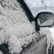Stock Photo: Car in snow.