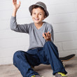 Cool Boy waving Hello! — Stock Photo #30350345