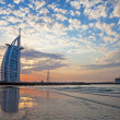Burj Al Arab sunset — Stock Photo