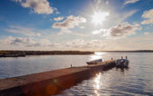 Fisherboats on a pier on Gotland — Stock Photo