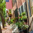 Philadelphia and red Brick Buildings — Stockfoto
