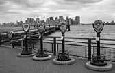 Skyline of Manhattan (B&W Version) — Stock Photo